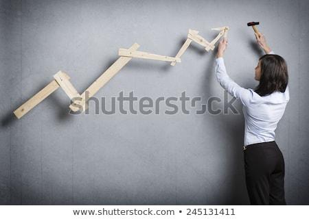 başarılı · işkadını · pozitif · eğilim · grafik · kariyer - stok fotoğraf © lichtmeister