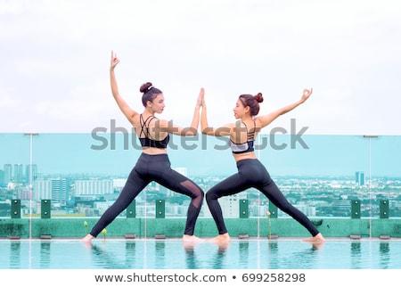 2 若い女性 屋外 都市 幸せ ストックフォト © boggy