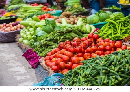 Taze sebze Asya pazar geleneksel can kullanılmış Stok fotoğraf © vapi