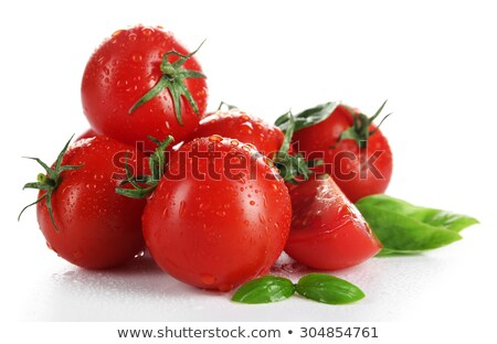 Pile of red tomatoes at vegetable market Stock photo © vapi