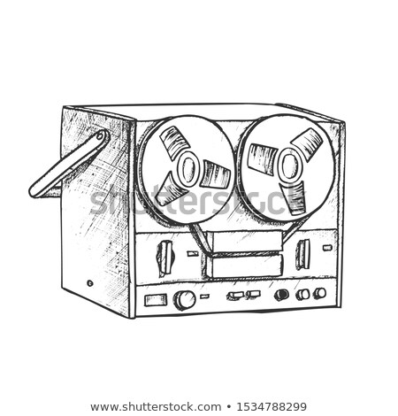 Classic Reel Player For Listening Music Ink Vector Stock photo © pikepicture