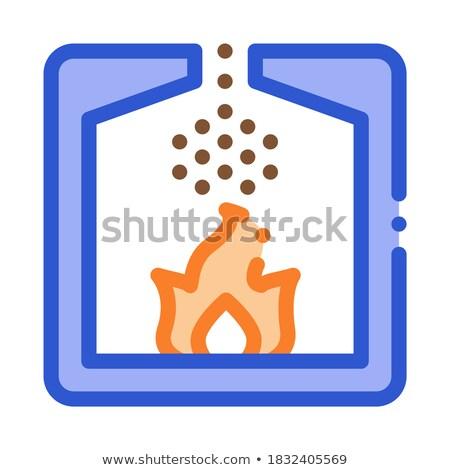 Fabriek verbranding procede icon vector dun Stockfoto © pikepicture