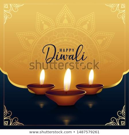 festival occasion happy diwali diya banner design Stock photo © SArts
