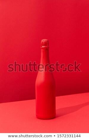 赤 描いた スプレー ワインボトル 休日 アップ ストックフォト © artjazz
