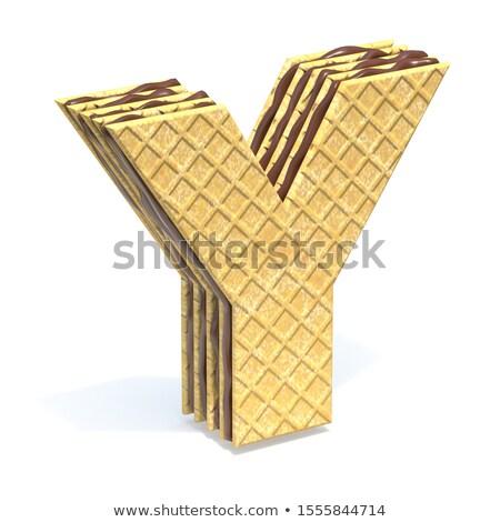 フォント チョコレート クリーム 充填 手紙 3D ストックフォト © djmilic