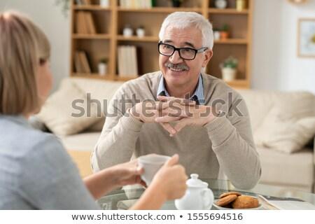 старший отставку человека глядя дочь улыбка Сток-фото © pressmaster