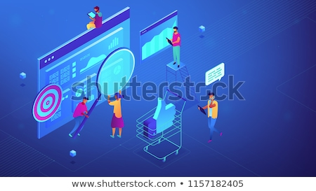 Marketing kampány vezetőség pici emberek menedzserek Stock fotó © RAStudio