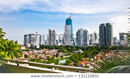 Skyline Jakarta java ville Indonésie île Photo stock © prill