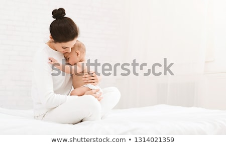 mom with baby diapers Stock photo © adrenalina