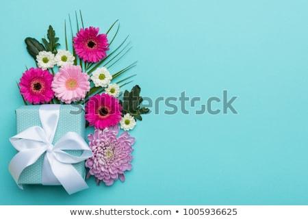 Valentines day greeting card with gerbera flowers Stock photo © karandaev