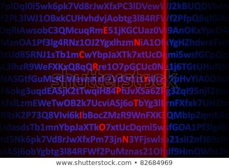 Rouge laser lettres milieu numérique Photo stock © nomadsoul1