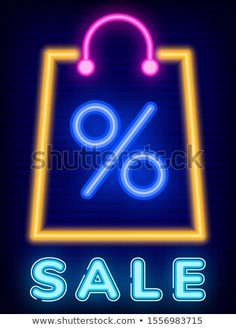Big Sale in Stores, Promotion Caption on Board Stock photo © robuart