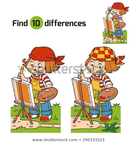 Spot fark açık kitap oyun çocuklar yetişkin Stok fotoğraf © Olena