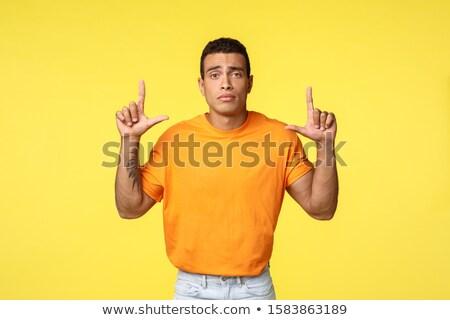 печально мрачный молодые кавказский человека оранжевый Сток-фото © benzoix