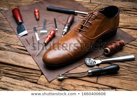 Tools afgewerkt schoen bureau mannen tool Stockfoto © AndreyPopov