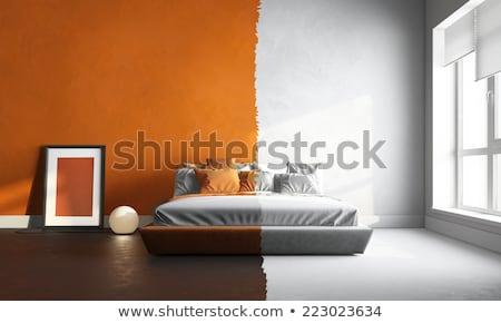 Habitación vacía pintado paredes 3D Foto stock © sedatseven
