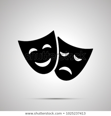 Happy theater mask silhouette, simple icon Stock photo © evgeny89