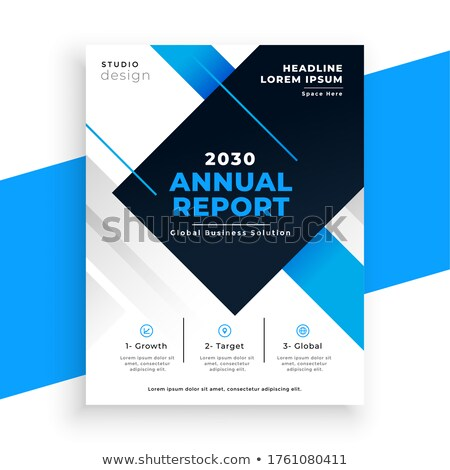 abstract blue annual report busienss brochure design template Stock photo © SArts
