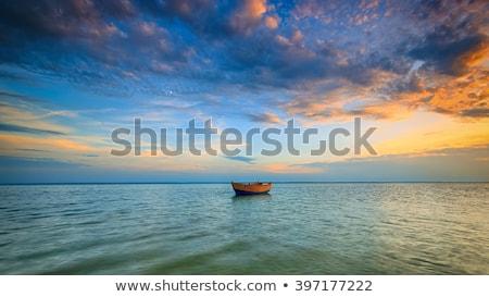 Sea sunset with dramatic sky Stock photo © dmitry_rukhlenko