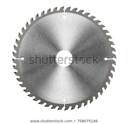 saw blade on white background stock photo © gewoldi