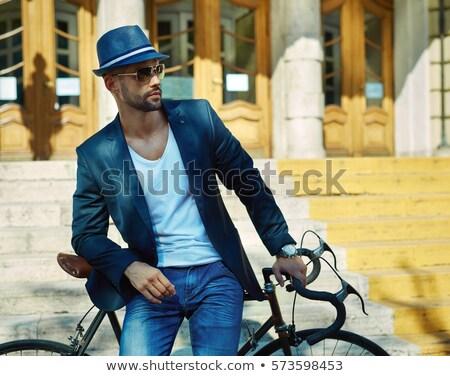 молодым · человеком · Hat · Солнцезащитные · очки · человека · Dance · лет - Сток-фото © Paha_L
