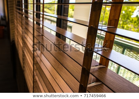 office. open window and horizontal blinds Stock photo © vlaru