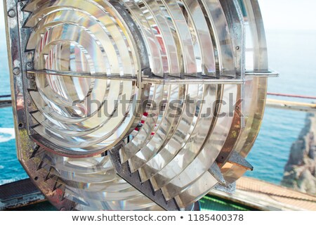 Old lighthouse bulbs and fresnel lens Stock photo © backyardproductions