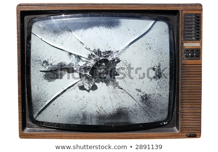An old trashed TV with a smashed screen. Stock photo © latent