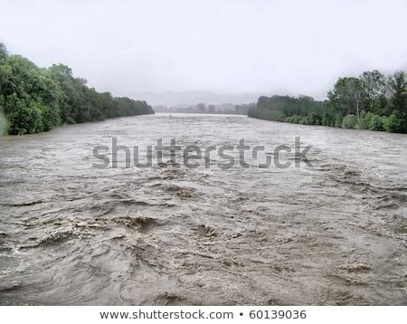 Fiume alluvione torino Italia rosa 13 Foto d'archivio © claudiodivizia