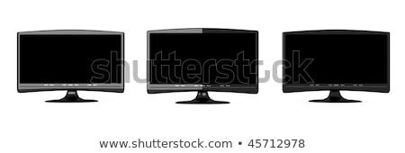 üç 3D render örnek bilgisayar televizyon Stok fotoğraf © Spectral