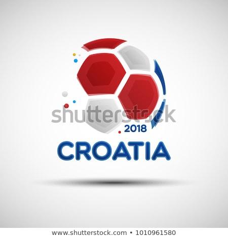 calcio · bandiera · isolato · bianco · illustrazione · 3d · sport - foto d'archivio © creisinger