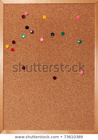 Memo notes stuck on a cork notice board Stock photo © latent