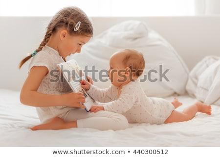 Dziecko baby biały twarz chłopca pięść Zdjęcia stock © Paha_L