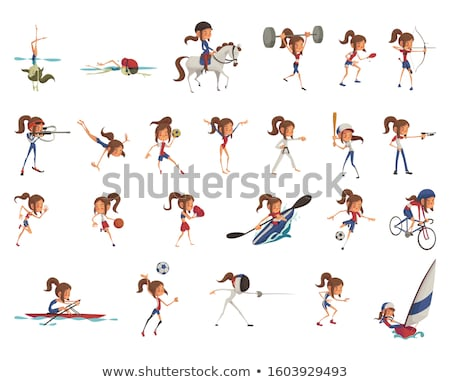 Modern Pentathlon Stock photo © abdulsatarid
