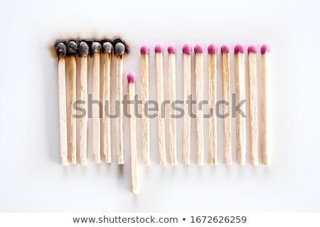 Wooden matchstick burning Stock photo © Olesha