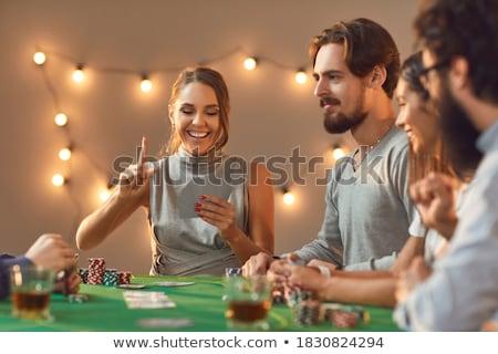 Stockfoto: Casino · geld · ontwerp · ruimte · groene · Blauw