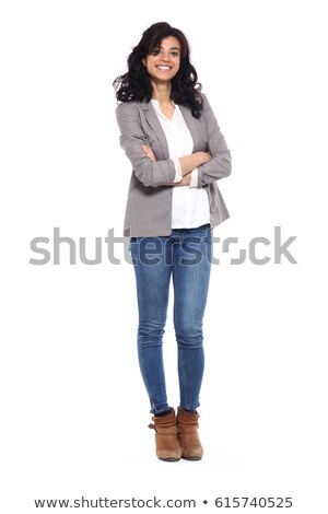 Elegant young woman isolated on white Stock photo © igabriela