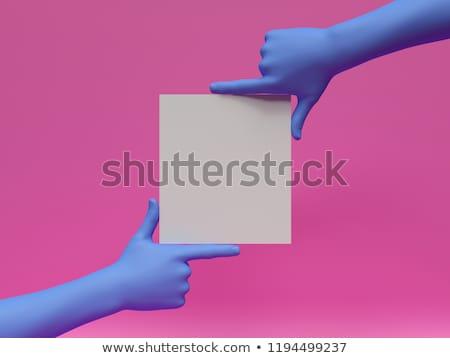 マネキン · ブランクカード · 孤立した · 白 · ビジネス - ストックフォト © grafvision
