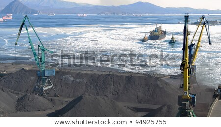 the port terminal for coal loading stock photo © papa1266