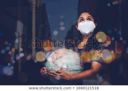 Médico cura globo mulher mão médico Foto stock © photography33