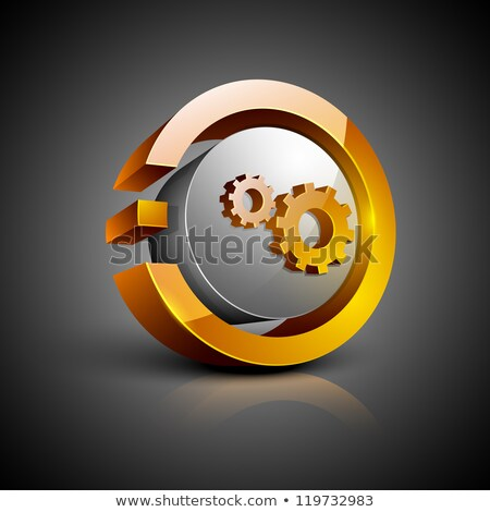 abstract glossy settings icon Stock photo © rioillustrator