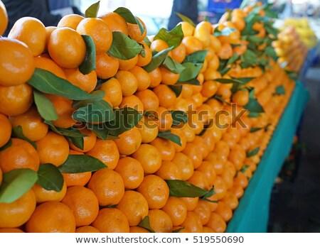 fresh organic mandarin at a street market in istanbul turkey stock photo © kuzeytac