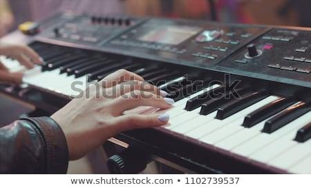 Digital midi keyboard Stock photo © ozaiachin