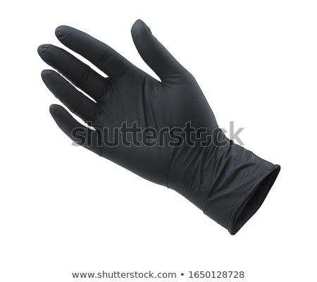 черные перчатки гол женщину белый ню рук Сток-фото © dolgachov