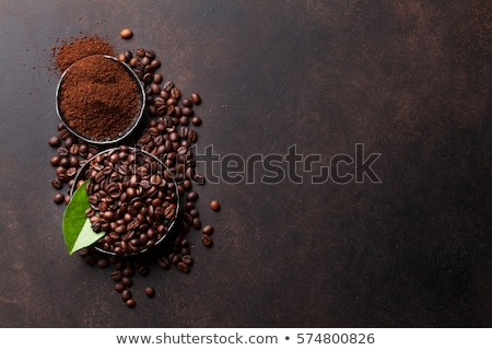 Zemin kahve çekirdeği kahve kafe tohumları sabah Stok fotoğraf © toaster