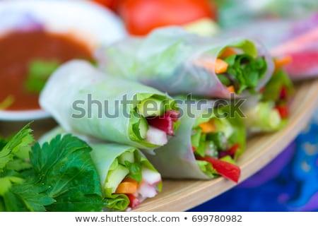 китайский · продовольствие · риса · весны · продовольствие · мяса - Сток-фото © m-studio