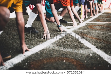 Concurrence sport suivre ligne affaires symbole Photo stock © Lightsource