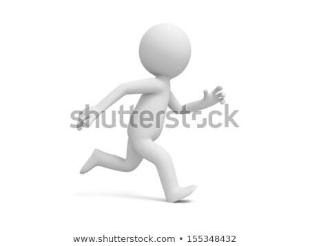 3d pessoas corrida branco esportes fitness fundo Foto stock © Quka