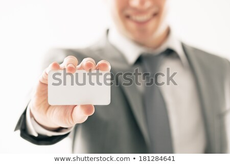 Souriant affaires sur carte de visite sourire Photo stock © wavebreak_media