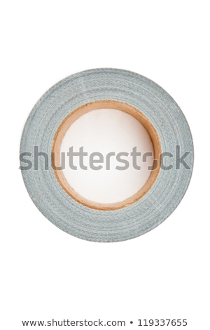 Silver adhesive tape lying on a a white background stock photo © wavebreak_media